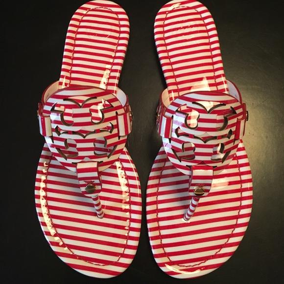 1e5d1f11da36 Tory Burch Nautical Stripe Miller Sandals